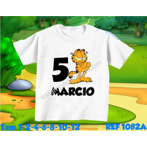 Camiseta Garfield Infantil Chapolin Tom E Jerry Bob Esponja