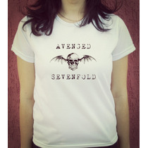 Babylook Camiseta Estampada Rock Avenged Sevenfold