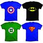 Camiseta Super Heróis,batman,super Man,capitão América,flash