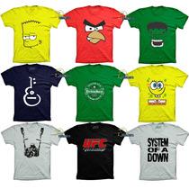 Camisetas Engraçadas Super Herois Bandas De Rock Bebidas