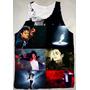 Camiseta Regata Michael Jackson Estampada