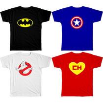 Camisetas De Heróis, Bandas De Rock, Engraçadas 100% Algodão