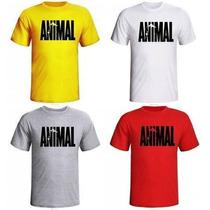 Camiseta Academia Musculação Animal Pak Com Manga - Promoção