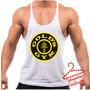 Regata Super Cavada Musculação Golds Gym Estampa Grande