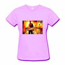 Camiseta Baby Look Feminina Indiana Jones