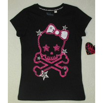 Blusa Pink Skull Abbey Dawn By Avril Lavigne + Pulseiras