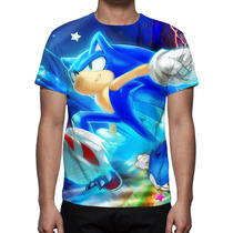 Camisa, Camiseta Game Sonic - Estampa Total