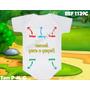 Body Infantil Bori Personalizados Dinda Mamãe Papai Bebê Pai