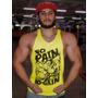 Camiseta Regata No Pain No Gain Cavada Musculação