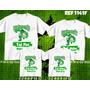 Kit 4 Quatro Camisetas Pai Mãe Filhos Palmeiras Verdão