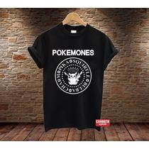Camiseta Sátira Pikachu Feminina Masculina Pokemones Ramones