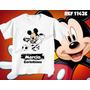 Camiseta Infantil Divertidas Futebol Corinthian Mickey Mouse