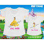 Camisetas Tal Mãe Tal Filha Princesas Bela E A Fera