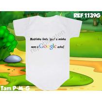 Body Infantil Bori Personalizados Dinda Madrinha Mamãe Papai