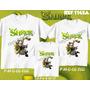 Kit Camisetas Tal Mãe Tal Pai Tal Filho Shrek Fiona Burro