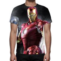Camisa, Camiseta Homem De Ferro Mod-02 - Estampa Total