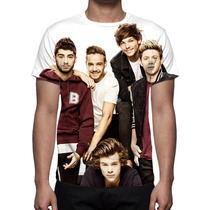 Camisa, Camiseta One Direction - Estampa Total