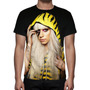 Camisa, Camiseta Pop Lady Gaga - Estampa Total