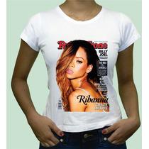Babylook Rihanna Camisa Camiseta Personalizada Algodao