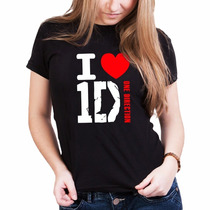 Camiseta One Direction - 1d - Baby Look - 100% Algodão
