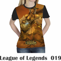 Camiseta Blusa Games League Of Legends Feminina Lol 019