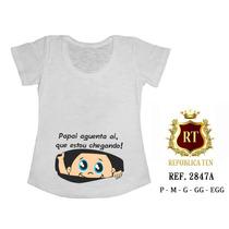 Camiseta De Gestante, Grávida, Bebê Espiando Bata