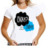 Camiseta Okay Camisa Baby Look Mulher A Culpa É Das Estrela