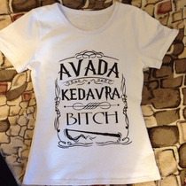 Camiseta Blusa Avada Kedavra Harry Potter