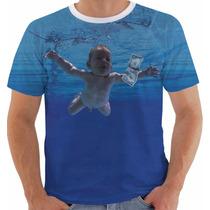 Camisa Camiseta Baby Look Nirvana Nevermind Kurt Cobain Cor