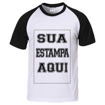 Camiseta Personalizada Raglan Manga Curta 100%algodão