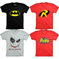 Camiseta Super Heroi Batman Robin Coringa Wy So Serios Heroi