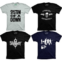 Camisetas Bandas Avenged Sevenfold A7x Slipknot U2 Soad Rock