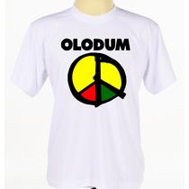 Camisa Camiseta Estampada Olodum Banda Axé Manga Curta