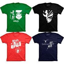 Camisetas Desenho Naruto Death Note Bleach Mascara Ichigo