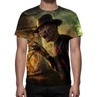 Camisa, Camiseta Mortal Kombat Freddy Krueger Estampa Total