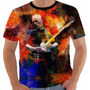 Camiseta David Gilmour Color Brazil Tour 2015 Pink Floyd