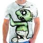 Camisa, Camiseta Geek Smurf Zumbi Games Séries Estampada 34