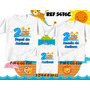 Camiseta Arca De Noé Aniversario Kit Com 3 Unid