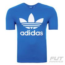 Camiseta Adidas Trefoil Originals Azul - Futfanatics