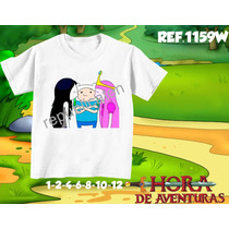 Camiseta Infantil - A Hora Da Aventura Personagens Rock