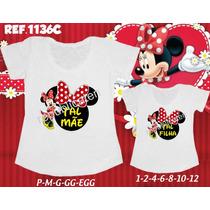 Kit Camisetas T-shirt Tal Mãe Tal Filha Minnie Minie Disney