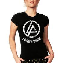 Camiseta Baby Look Feminina Bandas Rock Linkin Park