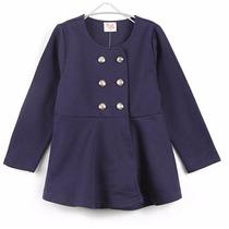 Casaco Casaquinho Blusa De Frio Jaqueta Azul Menina Infantil