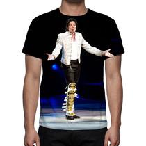 Camisa, Camiseta Michael Jackson Turnê - Estampa Total