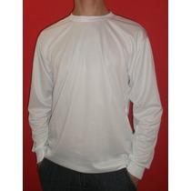 Kit 10 Camisetas Ml Dry Fit Ideais Para Sublimação - Brancas