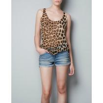 Regata Feminina Onça.blusa Animal Print. Camiseta.blusinha
