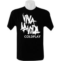 Camisetas Coldplay Tradicional Masculina Bandas Rock