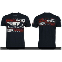 Camiseta Bad Boy Oficial Chris Weidman Marinho
