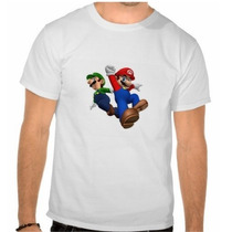 Camisetas Mario Bros, Luigi, Bowser, Toad, Simpsons E Mto +