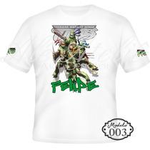Camisa Camiseta Blusa Personalizada Tartarugas Ninja